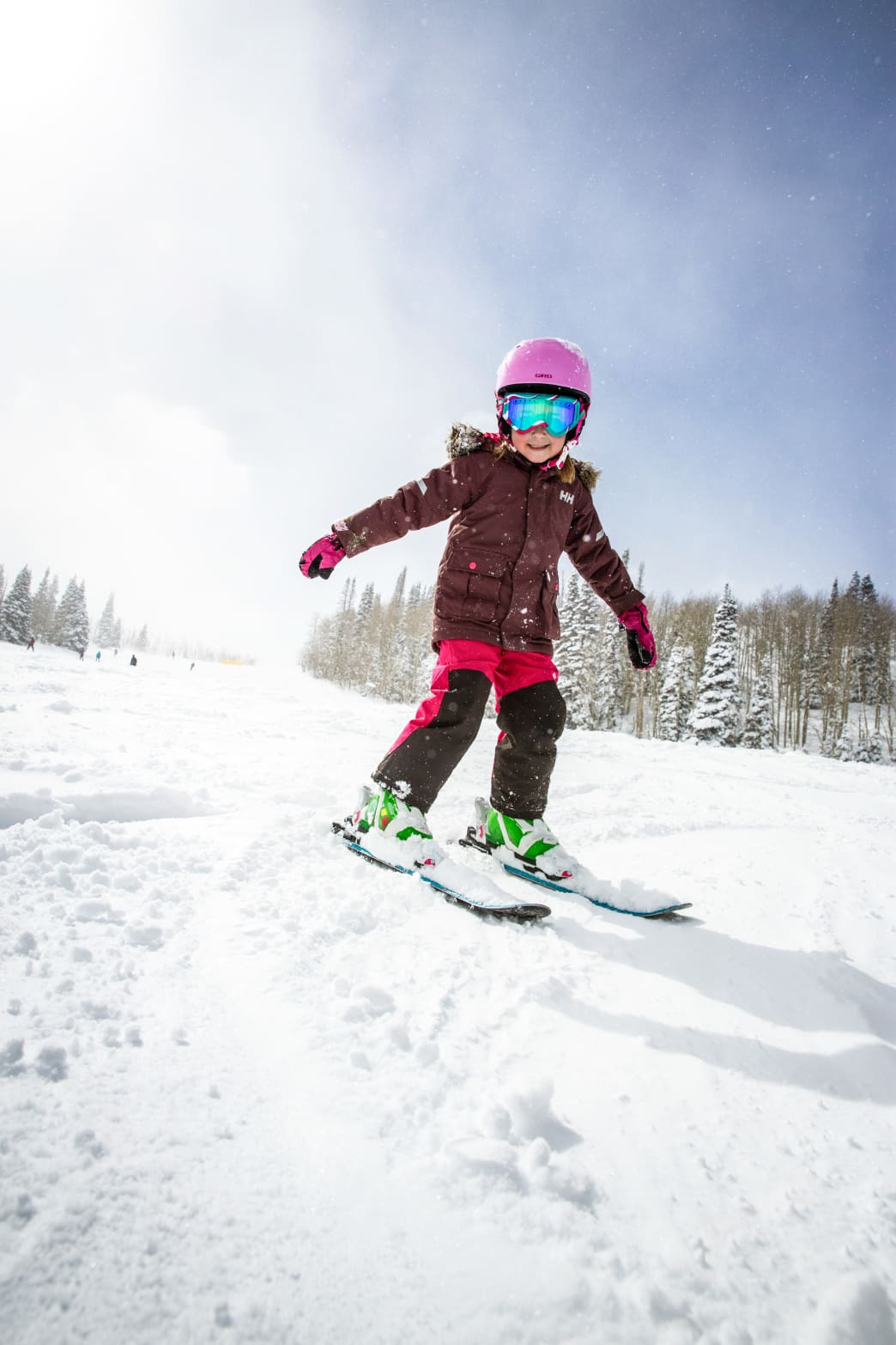 Kid skiing at Park City Mountain