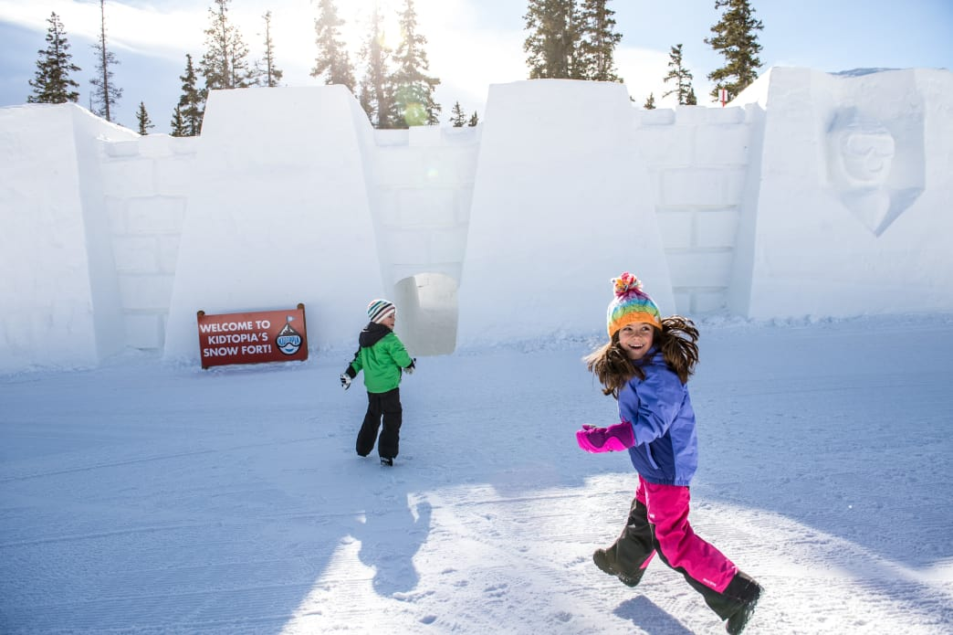 Keystone Resort Kidtopia snow fort