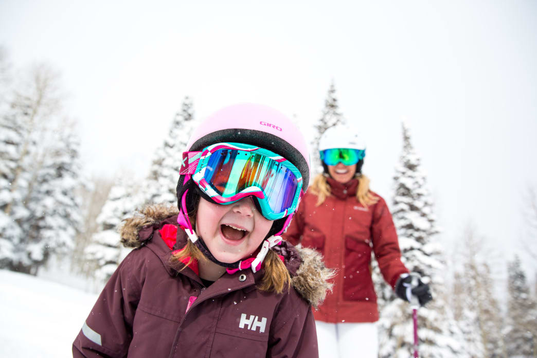 First-time beginner skiers at Park City