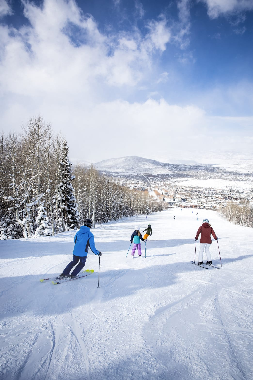 View of wide runs at Park City